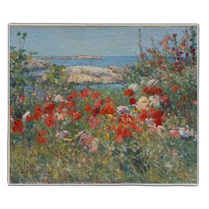 Celia Thaxter's Garden - Childe Hassam Pocket Rectangle #ARTR-25B