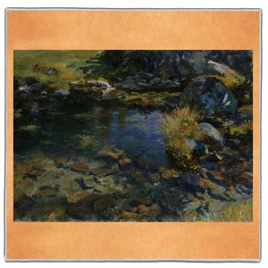 Alpine Pool - John Singer Sargent Pocket Square #ARTP-26A