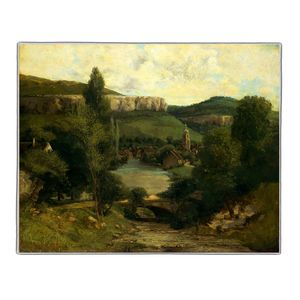View of Ornans - Gustave Courbet Pocket Rectangle #ARTR-27B