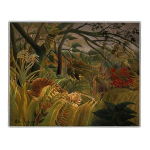 Tiger in a Tropical Storm - Henri Rousseau Pocket Rectangle #ARTR-28B
