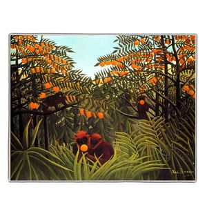 Monkeys In The Jungle - Henri Rousseau Pocket Rectangle #ARTR-30B