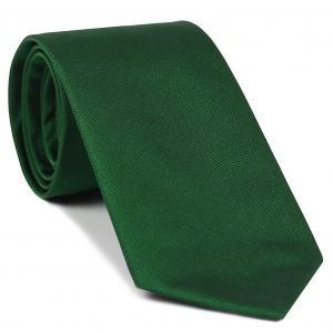 Bottle Green Reppe Solid Silk Tie #ERST-17