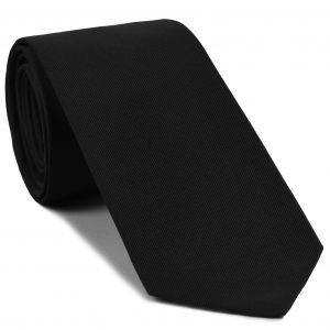 Black Faille Silk Tie #IFAT-1
