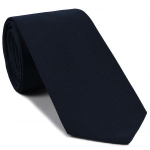 Dark Navy Blue Faille Silk Tie #IFAT-5