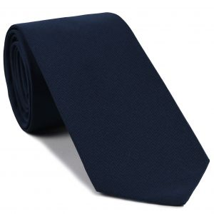 Navy Blue Faille Silk Tie #IFAT-6
