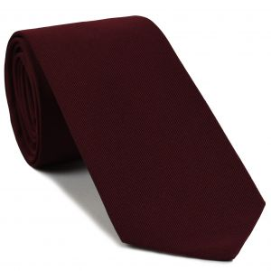 Dark Red Faille Silk Tie #IFAT-7