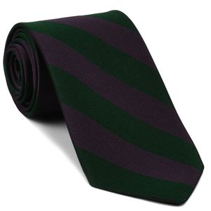Dark Purple & Forest Green Silk Tie #RGT-78