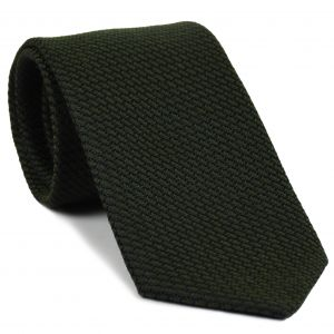 Forest Green & Midnight Blue Cashmere/Silk Grenadine Grossa Silk Tie #SCGGT-7