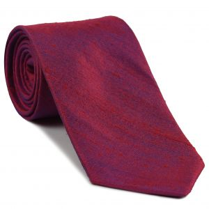 Red/Purple Thai Rough Silk Tie #THRT-6