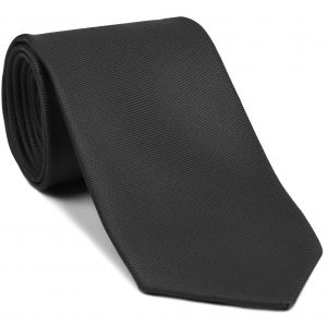 Charcoal Gray Twill Madder Solid Silk Tie #TMSOT-9