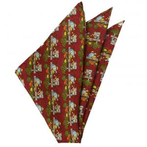 Thai Printed Silk Pocket Square #TRPS-70