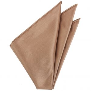Light Brown Thai Brocade Silk Pocket Square #VPS-25