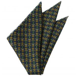Thai Printed Silk Pocket Square #TRPS-71