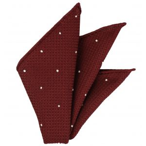 Dark Red Grenadine Grossa (Hand Sewn) designs Pocket Square #GGDPS-2