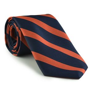 University of Virginia Silk Tie #ACO-19 (Dark Navy Blue & Burnt Orange)