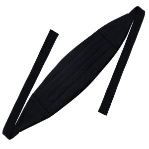 Classic Cummerbund with Midnight Blue Faille Solid Silk Ribbon#IFACB-2