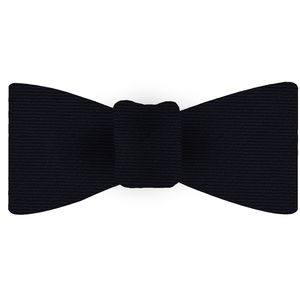 Midnight Blue Wool/Silk Bow Tie #GWSBT-1