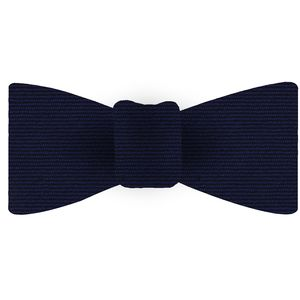 Navy Blue Wool/Silk Bow Tie #GWSBT-10