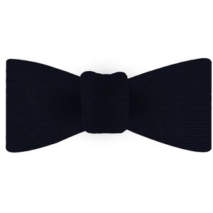 Dark Navy Blue Wool/Silk Bow Tie #GWSBT-11