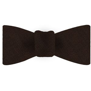 Dark Chocolate Wool/Silk Bow Tie #GWSBT-12