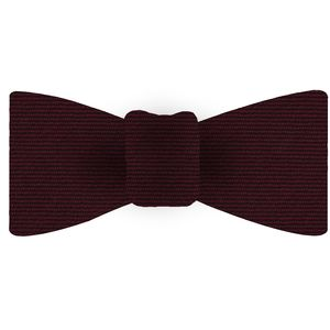 Burgundy Wool/Silk Bow Tie #GWSBT-13