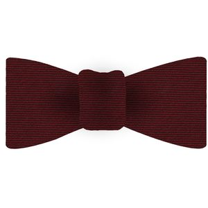 Dark Red Wool/Silk Bow Tie #GWSBT-2