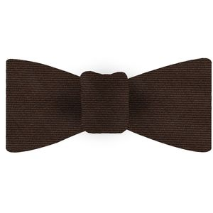 Chocolate Wool/Silk Bow Tie #GWSBT-3