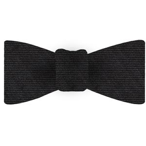 Dark Charcoal Gray Wool/Silk Bow Tie #GWSBT-4
