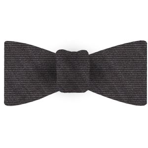 Charcoal Gray Wool/Silk Bow Tie #GWSBT-5