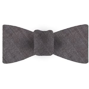 Gray Wool/Silk Bow Tie #GWSBT-7