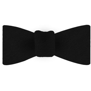 Black Wool/Silk Bow Tie #GWSBT-8