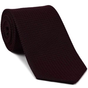 Burgundy & Midnight Blue Cashmere/Silk Grenadine Grossa Silk Tie #SCGGT-4