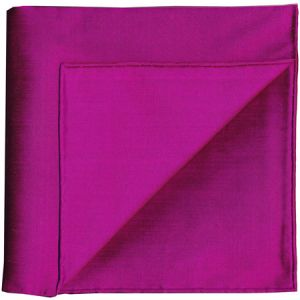 Dark Fuchsia Shot Thai Silk Pocket Square #27