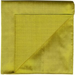 Golden Green Shot Thai Silk Pocket Square #32