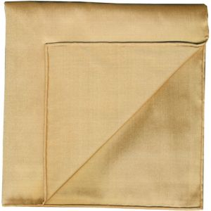 Tan Shot Thai Silk Pocket Square #35