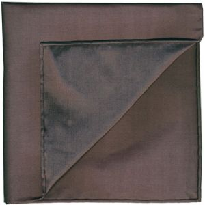 Dark Chocolate Shot Thai Silk Pocket Square #37