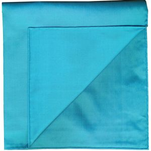 Ocean Blue Shot Thai Silk Pocket Square #38
