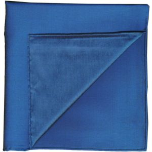 Blue Shot Thai Silk Pocket Square #39