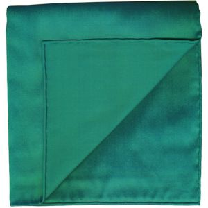 Turquoise Shot Thai Silk Pocket Square #11