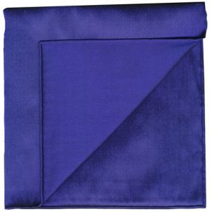 Dark Blue Shot Thai Silk Pocket Square #12