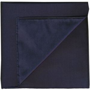Midnight Blue Shot Thai Silk Pocket Square