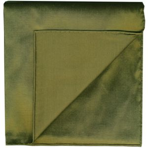 Olive Shot Thai Silk Pocket Square #14