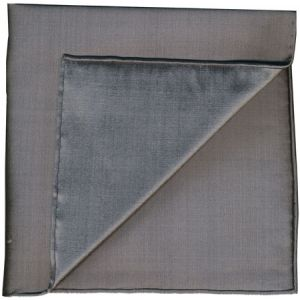 Charcoal Gray Shot Thai Silk Pocket Square #15