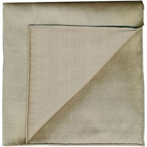 Light Brown Shot Thai Silk Pocket Square #17