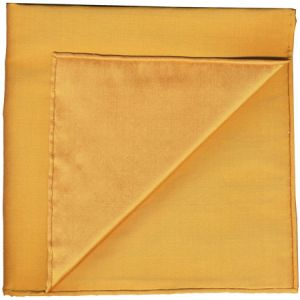 Soft Gold Shot Thai Silk Pocket Square #19