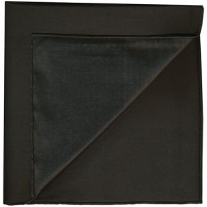 Black Shot Thai Silk Pocket Square #20