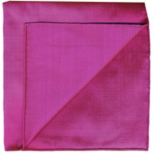 Dark Pink Shot Thai Silk Pocket Square #2