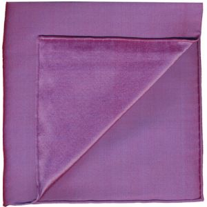 Blueish Red Shot Thai Silk Pocket Square #3
