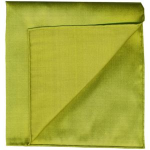Young Leaf Green Shot Thai Silk Pocket Square #8