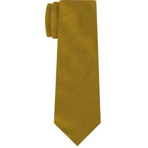 Yellow Reppe Solid Silk Tie #26